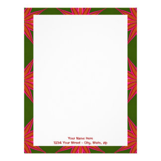 Holiday Star Pattern Personalized Letterhead