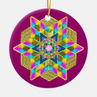 Holiday Star Qullt Christmas Ornament