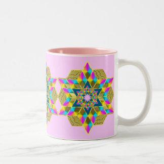 Holiday Star Qullt Two-Tone Coffee Mug