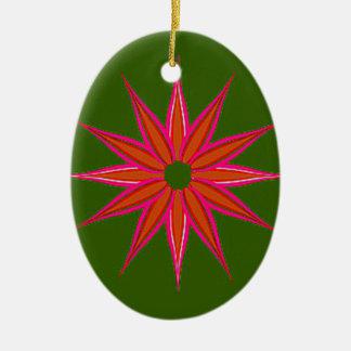 Holiday Star Vintage Ceramic Ornament