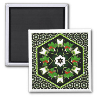 Holiday Star Wreath Christmas Magnet