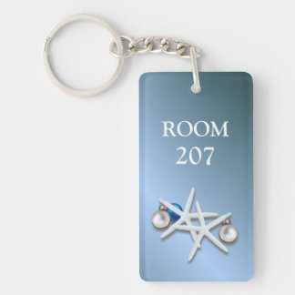 Holiday Starfish Room Number Keychain