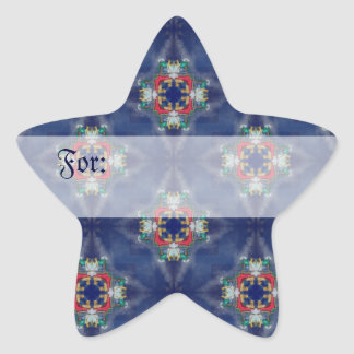Holiday Stars Gift Tag Star Sticker