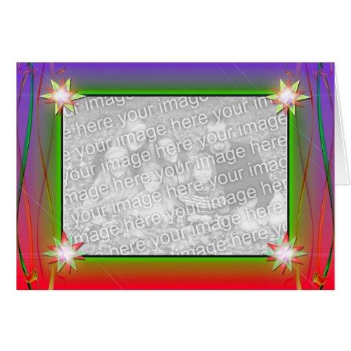 Holiday Stars (photo frame) Card