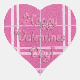 Holiday Sticker, Happy Valentines Heart Heart Sticker