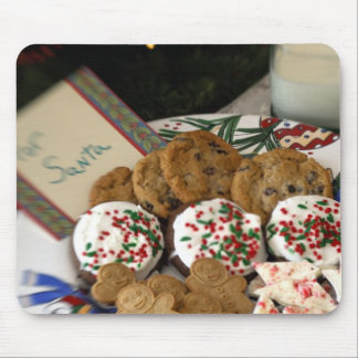 Holiday still life. Christmas cookies & milk for 2 Mouse Pad