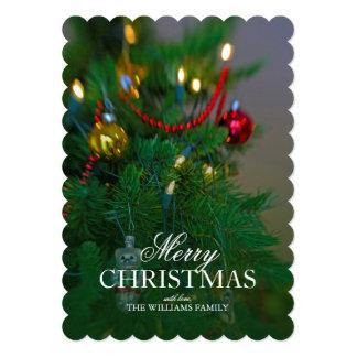 Holiday still life. Christmas tree. Card