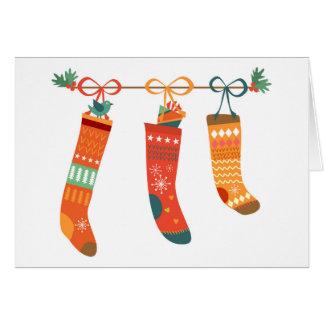Holiday Stocking Greeting Card