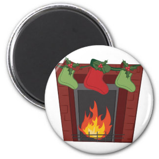 Holiday Stockings 2 Inch Round Magnet