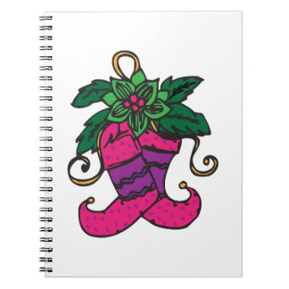 Holiday Stockings Spiral Note Books