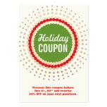 Holiday Store Coupon Promotional Large Business Card