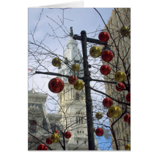 Holiday Street Scene Greeting Card