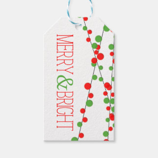 Holiday String Lights Merry Bright Gift Tags