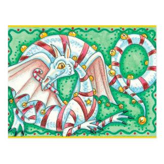 Holiday Striped Dragon Postcard