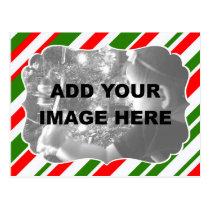 Holiday-Striped Postcard