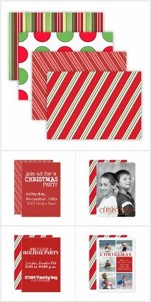 Holiday Stripes and Dots, Cards and Stationery