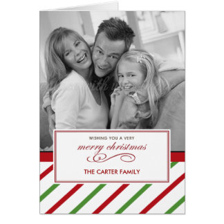 Holiday Stripes Christmas/ Holiday Photo Cards Cards
