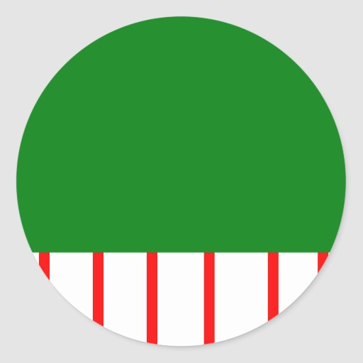 Holiday Stripes Classic Round Sticker
