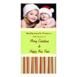 Holiday Stripes Custom Photo Card