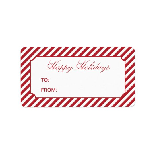 HOLIDAY STRIPES   GIFT TAGS