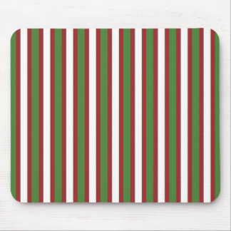 holiday stripes mouse pad