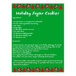Holiday Sugar Cookies Postcard