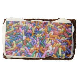 Holiday Sugar Sprinkles Rectangular Brownie