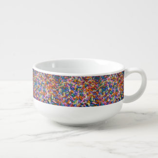 Holiday Sugar Sprinkles Soup Bowl With Handle