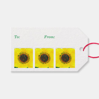 Holiday Sunflower Pack Of Gift Tags
