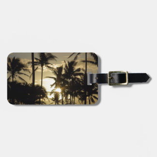 Holiday Sunset Scenery Bag Tag