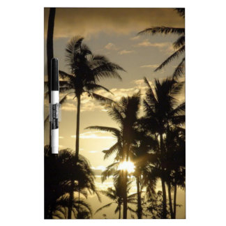 Holiday Sunset Scenery Dry-Erase Board