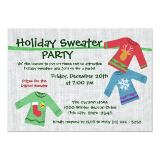 Holiday Sweater Party 5x7 Paper Invitation Card