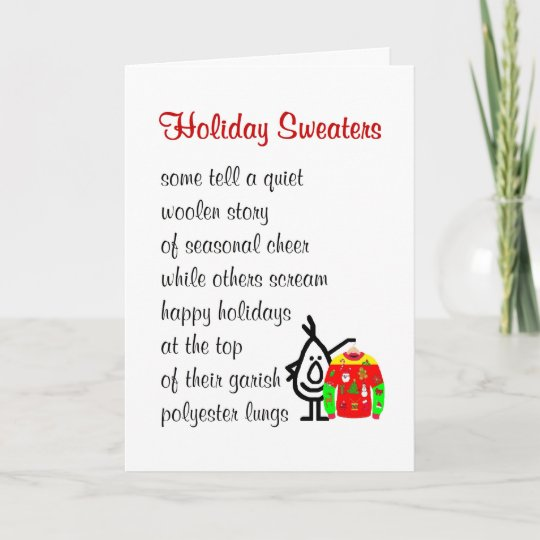 holiday sweaters a funny christmas poem - Funny Christmas Poem