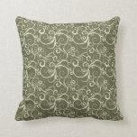 Holiday Swirls Green.jpg Pillow