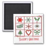 Holiday Symbols Magnet