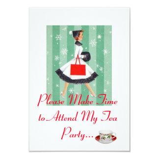 Holiday Tea Party invitation