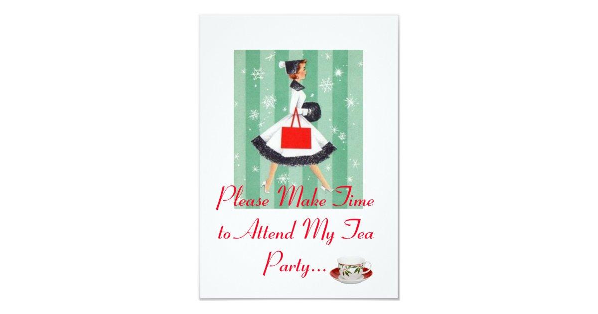 Holiday Tea Party invitation | Zazzle.com