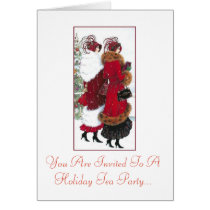 Holiday Tea Party Invitation Vintage ladies