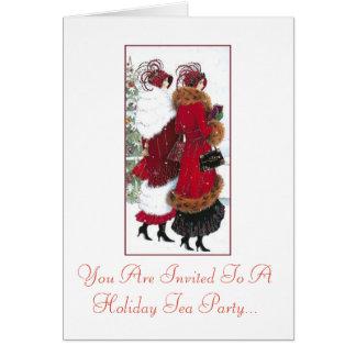 Holiday Tea Party Invitation Vintage ladies