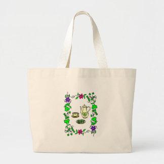 Holiday Tea Set Irish Tote Bag