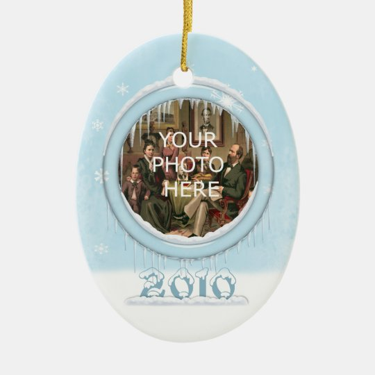 Holiday Teddy Bear Picture Ornament
