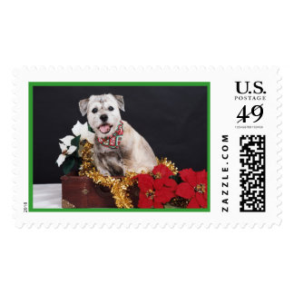 Holiday Terrier Postage