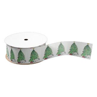 Holiday Terrier Ribbon Grosgrain Ribbon