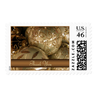 Holiday Thank You Postage - Gold Ornaments Postage