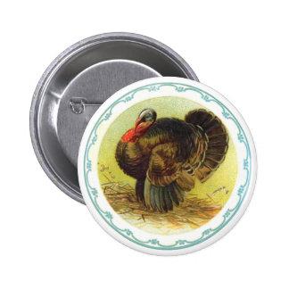 Holiday Thanksgiving Turkey Button