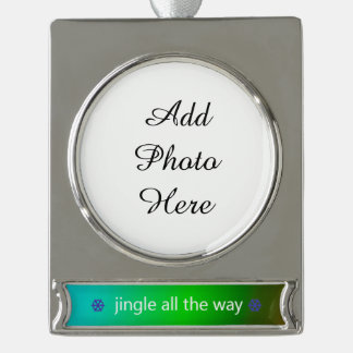 Holiday Theme Jingle Saying Silver Plated Banner Ornament