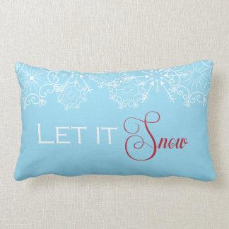 Holiday Throw Pillow- Let it Snow Lumbar Pillow