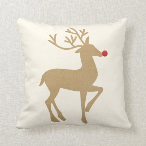 Christmas Throw Pillows From Kohls : Holiday Throw Pillow the Reindeer Zazzle