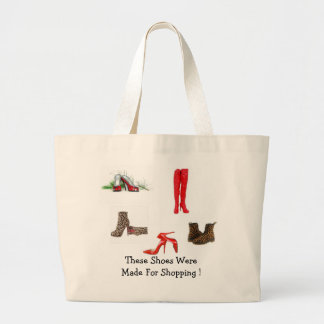 Holiday Tote Bag For The Women That Loves Shoes