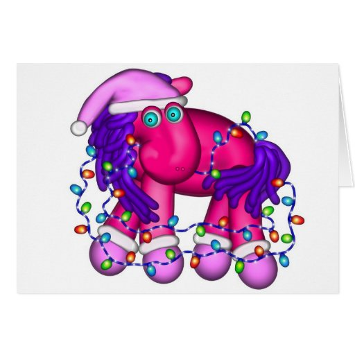 Holiday Toy Pony Greeting Card